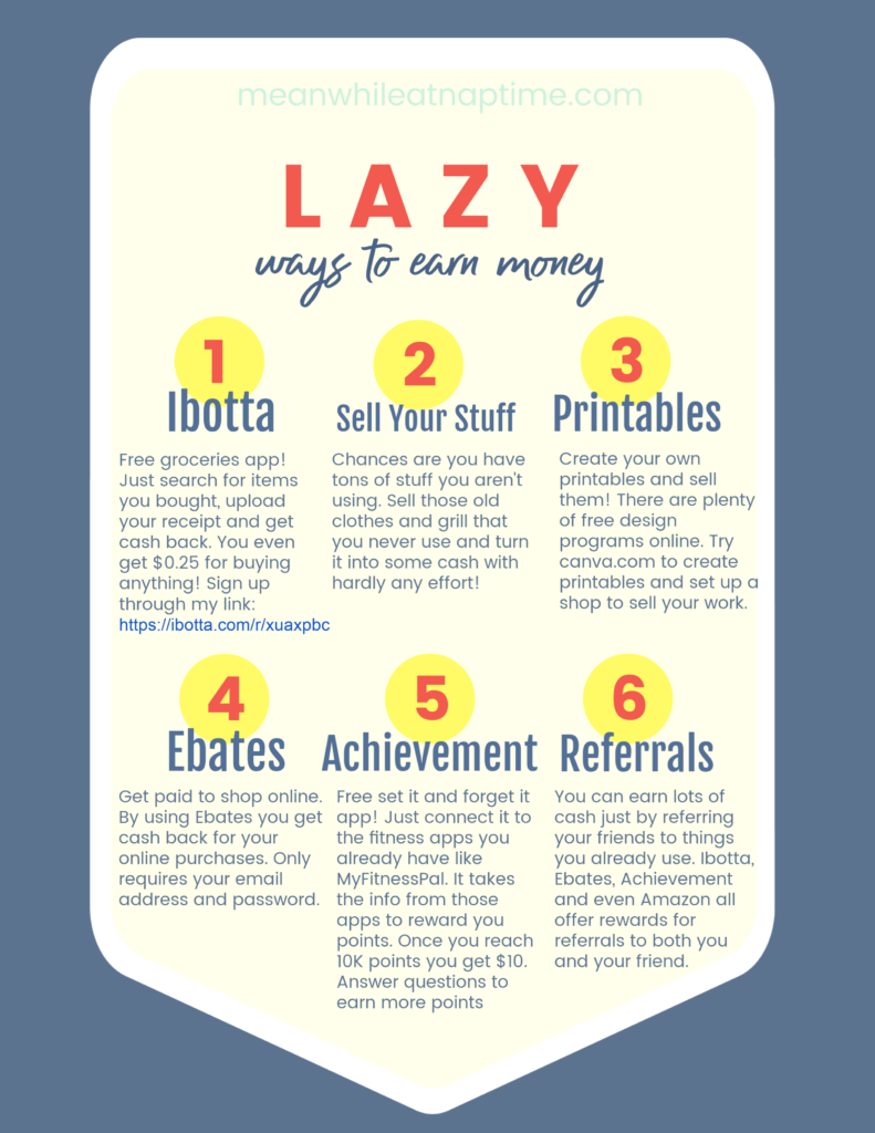 6 Lazy Ways to Earn Money from Home - Meanwhile at Naptime